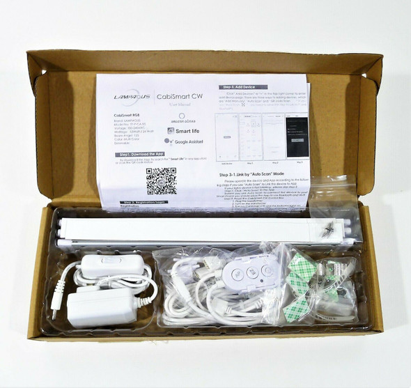 Lampaous LED Smart Cabinet Light Work with Alexa 3 Lights Bar Kit - OPEN BOX