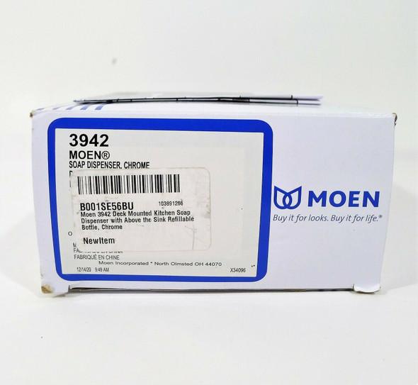 Moen 3942 Deck Mounted Kitchen Soap Dispenser in Chrome - OPEN BOX