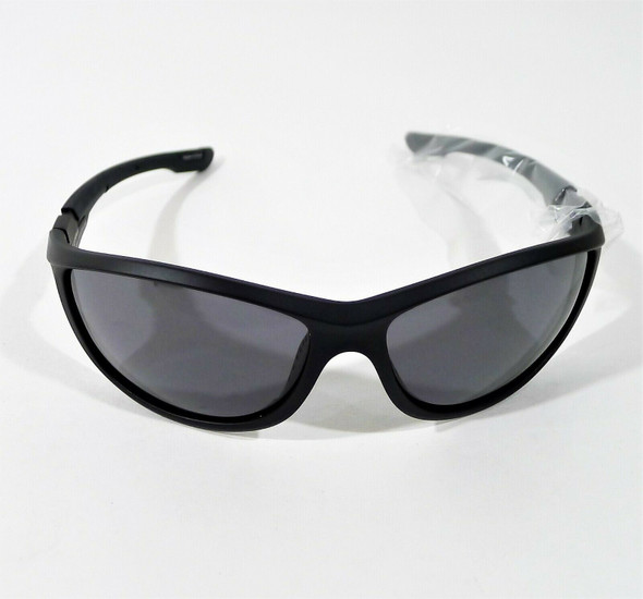 Extremus Unisex Matte Black Smoke Lens Polarized Sport Sunglasses - OPEN BOX
