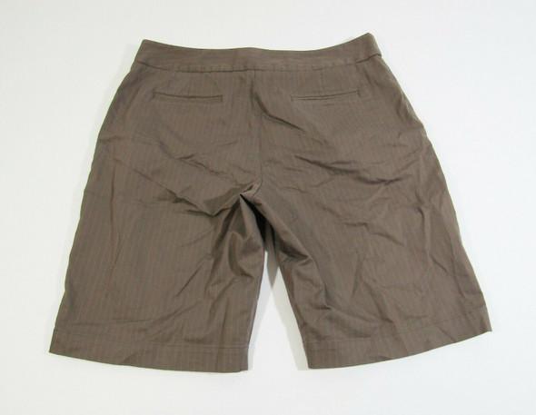 Tommy Bahama Women's Brown Pinstripe Bermuda Shorts Size 10