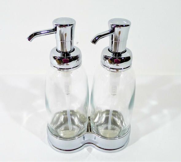 mDesign Double Liquid Hand Soap Dispenser Pump Bottle  - OPEN BOX