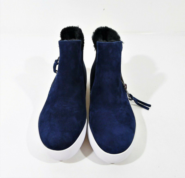 Rebecca Minkoff Navy Shelly High Top Faux Fur Shoes Size 7M - NEW WITHOUT BOX
