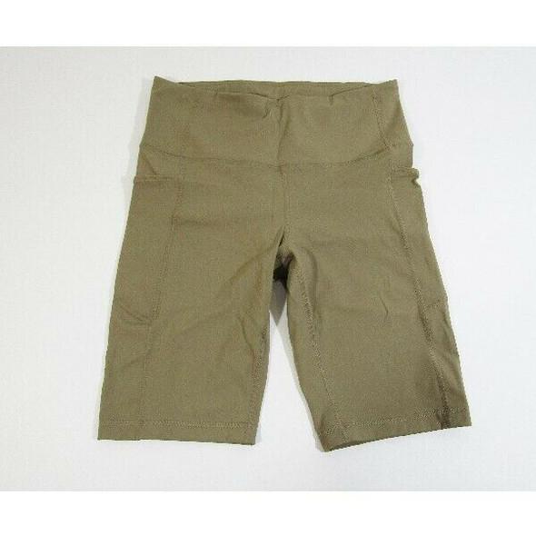 CRZ Yoga Women's Khaki Athletic Sports Shorts w/ Pockets Size M *NEW WITH TAGS