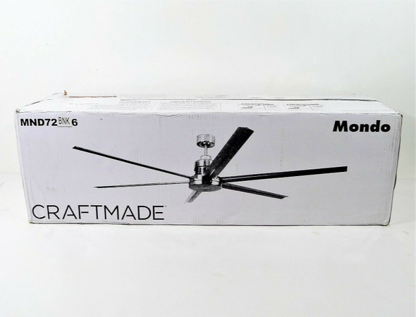 """Craftmade 72"""" 6 Blade Ceiling Fan in Brushed Nickel LOCAL PICKUP ONLY, AUSTIN TX"""