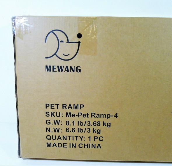Mewang Pet Ramp Me-Pet Ramp-4 Wooden Adjustable Small Dog - NEW
