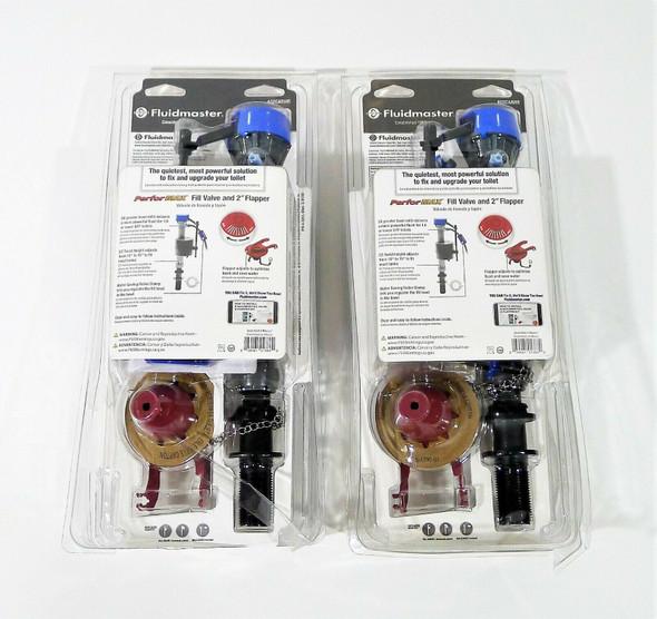 Set of 2 Fluidmaster PerforMAX Universal Fill Flapper Repair NEW DAMAGED PACKAGE