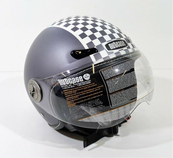 Nutcase Moto Retro Racer Open Face Helmet Size Small - NEW