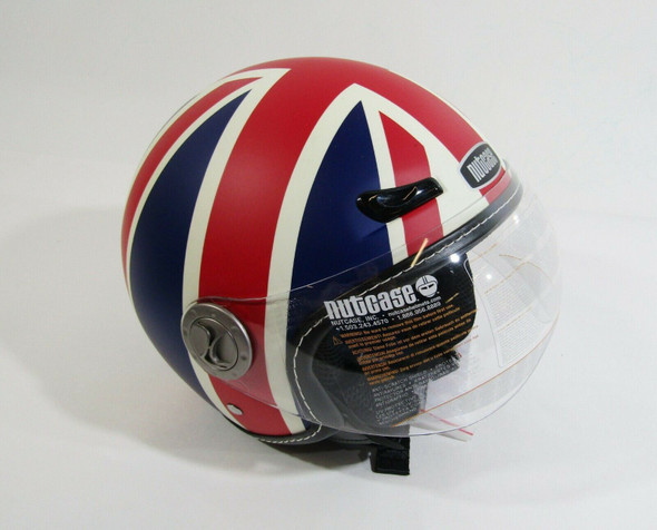 Nutcase Moto Union Jack Matte Half Shell Helmet Size S, DOT, ECE **NEW IN BOX**