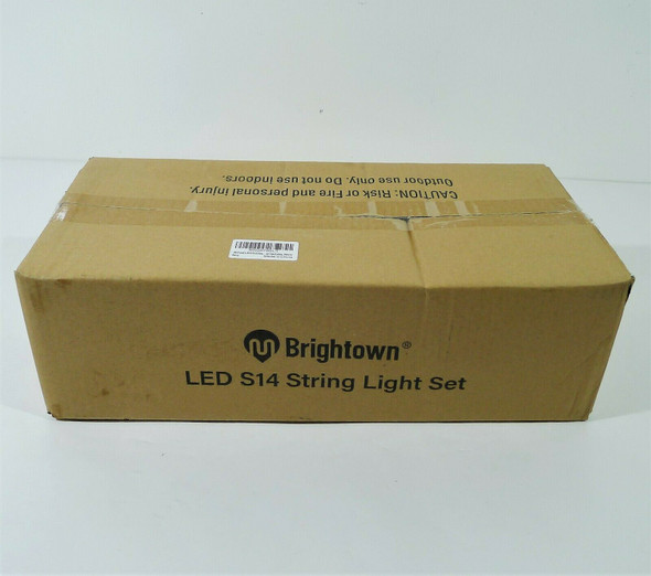 Brightown LED S14 Outdoor Patio String Light Set 48' - **OPEN BOX