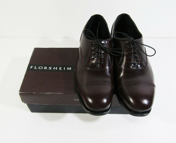 Florsheim Men's Lexington Burgundy Genuine Leather Dress Shoes Size 10D *IOB*