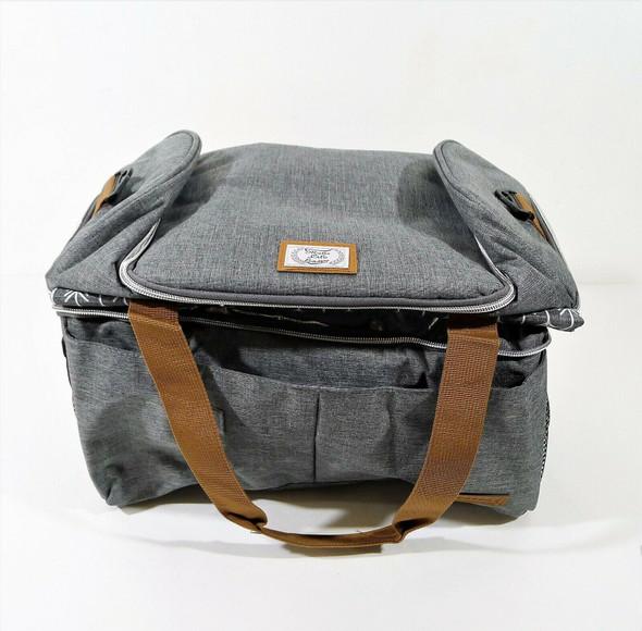 "Lekesky Gray Cooler Bag Insulated Picnic Bag Leakproof Cooler 15"" x 12"" x 8"""