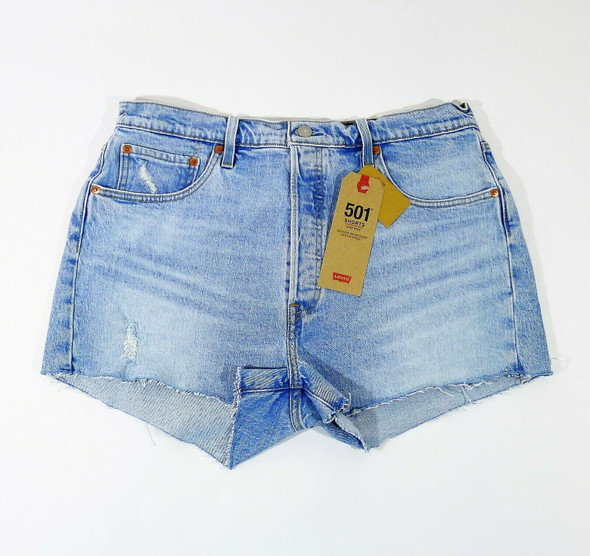 Levi's Women's Blue 501 Original High-Rise Jean Shorts Size 34 - NEW WITH TAGS