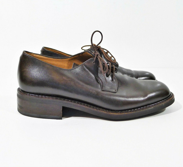 Paraboot Men's Lisse Choco Brown Chopin Shoes UK 7.5 K (US 8) **SCUFFS ON TOES