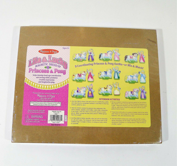 Melissa & Doug Lila and Lucky Wooden Dress-Up Princess Doll and Horse NEW SEALED