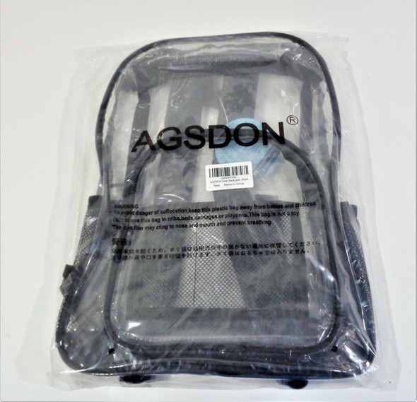 AGSDON Clear Backpack *New, Open Package*