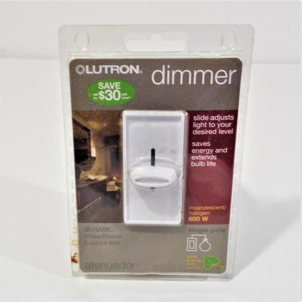 Lutron Skylark Slide Dimmer, Single Pole 600W in White *NEW*