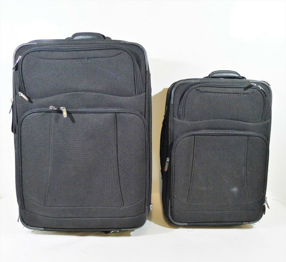 Set of 2 Foray Black Rolling Luggage **SEE DESCR** LOCAL PICKUP ONLY, AUSTIN TX
