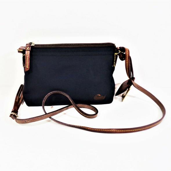 Dooney & Bourke Navy Nylon Crossbody w/ Leather Strap