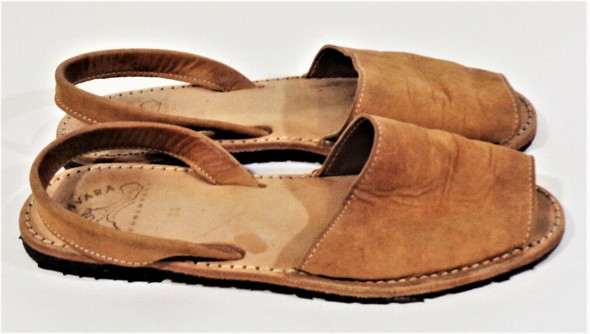 Ishvara Brown Leather Open Toe Sandals Women's Size 7.5