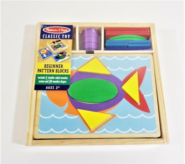 Melissa & Doug Classic Toy Beginner Pattern Blocks Ages 2+ *NEW*