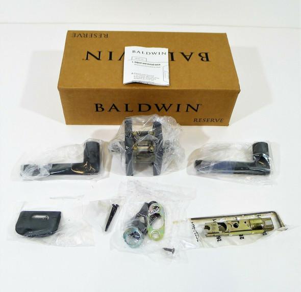 Baldwin Reserve Black PS.SQU.R.CSR. 190 Square Passage Door Lever Set *OPEN BOX