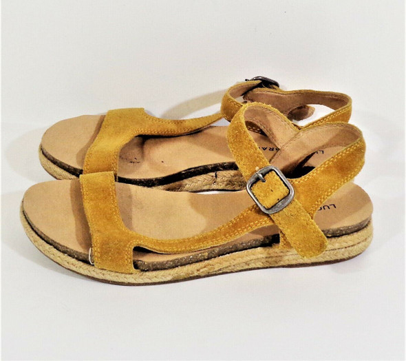 Lucky Brand Brown Suede Strappy Sandals Women's Size 9M