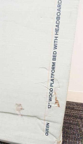 "Zinus Tonja 12"" Wood Platform Bed w/Headboard Queen LOCAL PICKUP ONLY, AUSTIN TX"