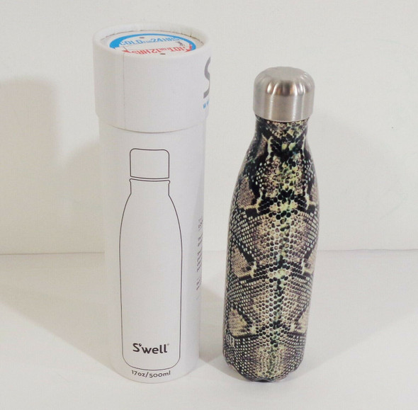 S'well 500 ml Insulated Stainless Steel Water Bottle Snake Print *New, Open Box*