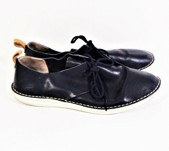 Clarks Navy Leather Casual Oxfords Men's Size 11