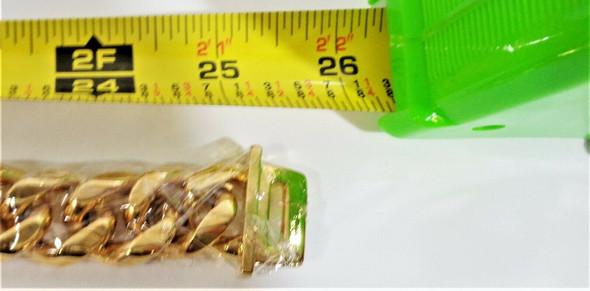 "Abaxaca 26"" Gold Toned Chain Pet Collar *New, Open Box*"