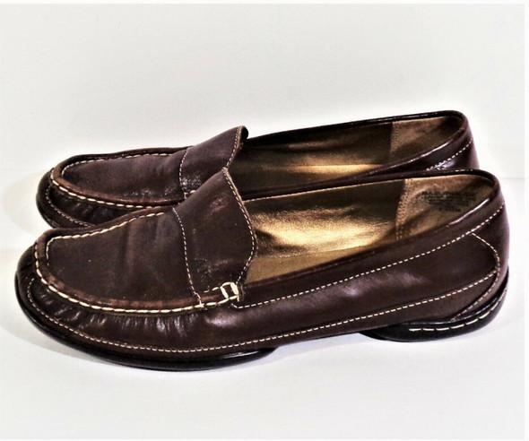 Anne Klein iFlex Brown Leather Loafers Women's Size 7.5