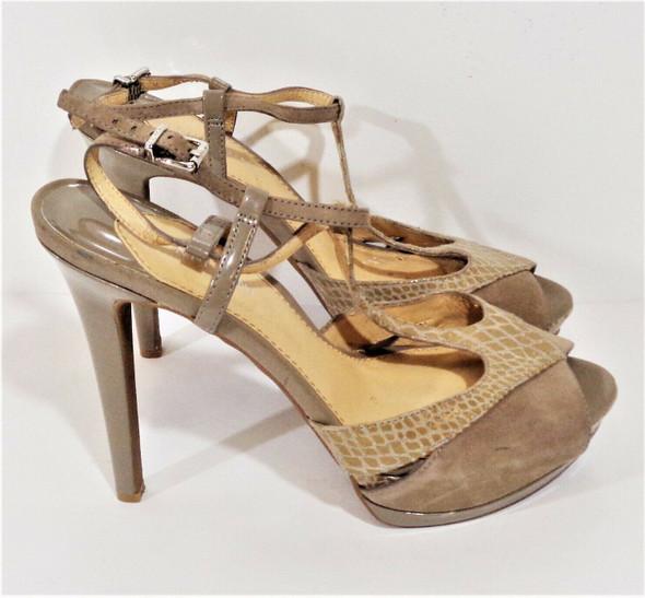 Gianni Bini Nude Suede & Leather Stiletto Heels Size 9M