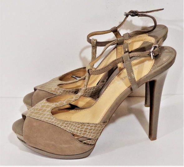 Gianni Bini Nude Suede & Leather Stiletto Heels Women's Size 9M