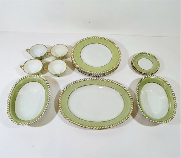 Set of 15 Franconia Krautheim Celadonia Selb Bavaria China Set - SEE DESCRIPTION