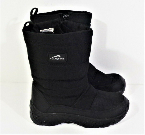 Polar Edge Black Snow Boots Youth Size 4