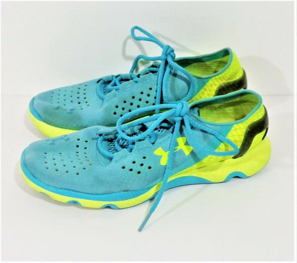 Under Armour Speedform Apollo 2 Green & Blue Women's Running Shoes Size 7.5
