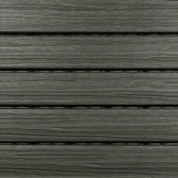 """Aura Pre-Finished Polymer Deck Tile in Driftwood 12""""x12"""" (6 SQ. FT. Total) NEW"""