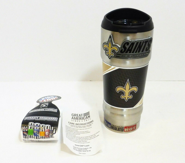 New Orleans Saints 18oz. Stainless Steel Insulated Hot/Cold Beverage Mug  NEW