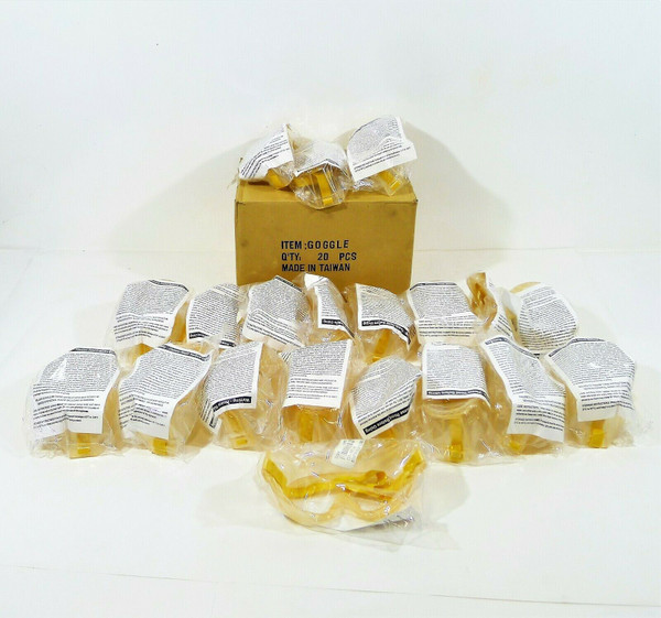 Box of 20 Bouton 550 Softside Goggles 251-509Y-300 - NEW IN PACKAGE