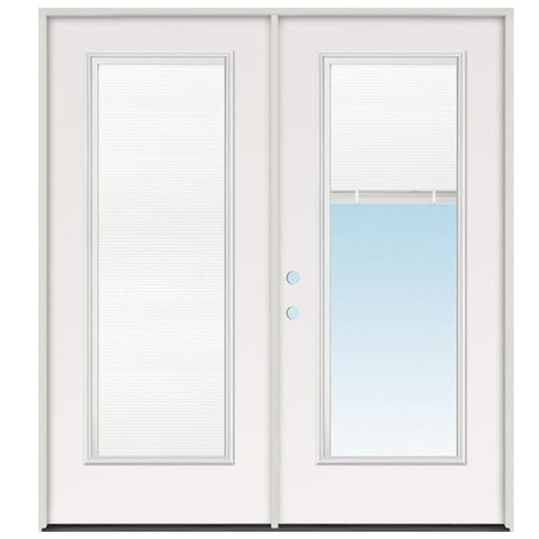 6/0 French Door Full Lite With Blinds