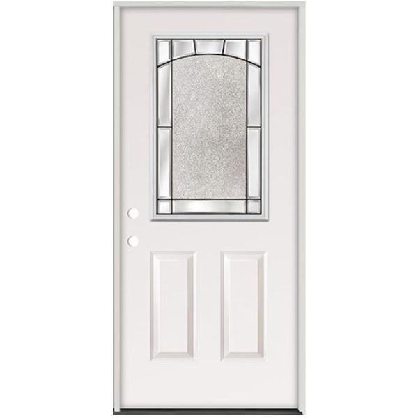 3/0 Half Lite Steel Exterior Pre-Hung Door