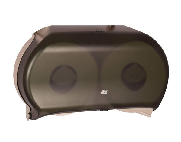 Tork Smoke 9'' Double Plastic Toilet Roll Dispenser 56TR -NEW - **NO TP INCLUDED