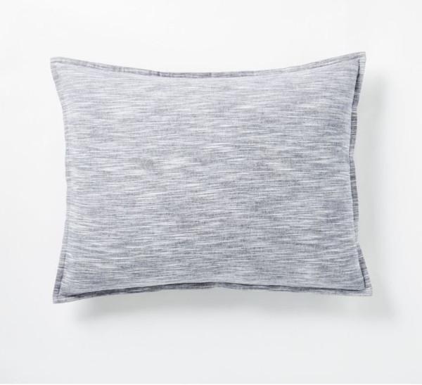 West Elm Midnight Flannel Space Dye Standard Sham Only - NEW