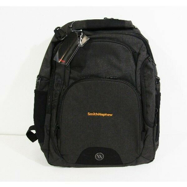 Elleven Black Customized w/ Smith + Nephew Laptop Backpack New With Tags 19x17x4