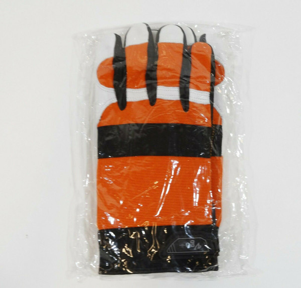 VGO Orange Chainsaw Gloves Size L Large NEW
