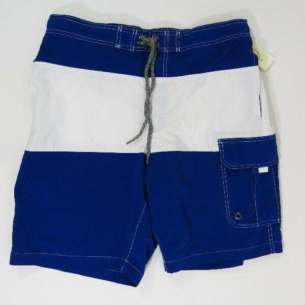 Sonoma Life + Style Blue & White Men's Swim Shorts NWT Size M