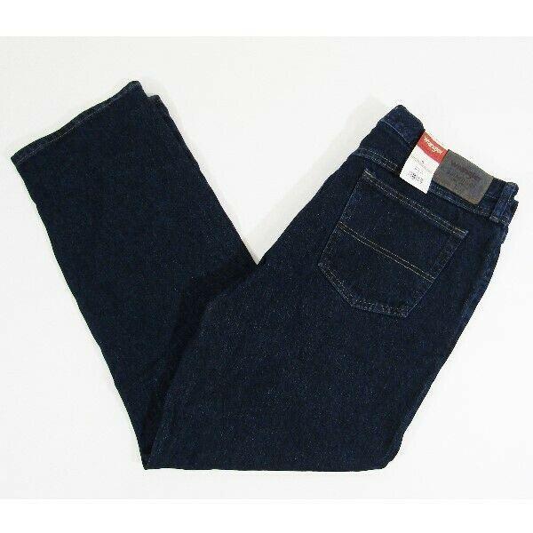 Wrangler Authentics Straight Dark Wash Men's Jeans NWT Size 36x32