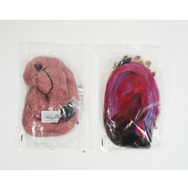 Anogol Anime Synthetic Women's Multicolor Wigs Set of 2 NEW IN PACKAGE