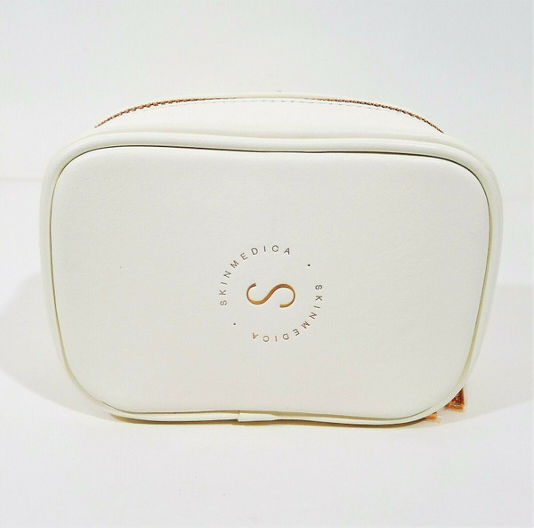 Skinmedica White Faux Leather Makeup Bag - OPEN PACKAGE