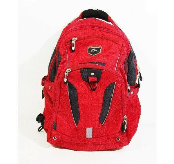"High Sierra Elite Red & Gray Multi-pocket Laptop Backpack 20"" H x 15"" L x 10"" W"